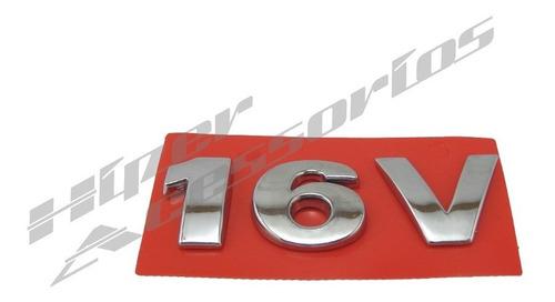 emblema 16v gol parati saveiro cromado g3 g4 paralamas
