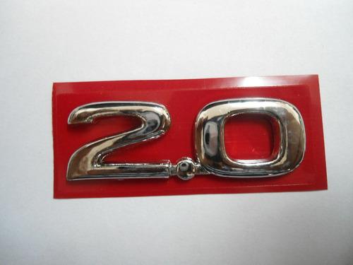 emblema 2.0 p/ chevrolet linha 02/07 - bre