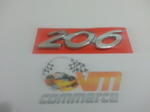 emblema 206 cromado mala peugeot 206