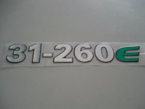 emblema '31-260 e' frente da vw