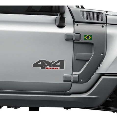 emblema 4x4 diesel troller 2015/2019 adesivo lateral portas