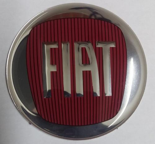 emblema ades centro p/ roda calota fiat 65mm 6,5cm vermelho