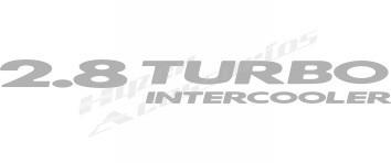 emblema adesivo 2.8 turbo intercooler blazer s10 2003/ prata