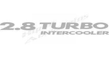 emblema adesivo 2.8 turbo intercooler s10 blazer 2003/ prata