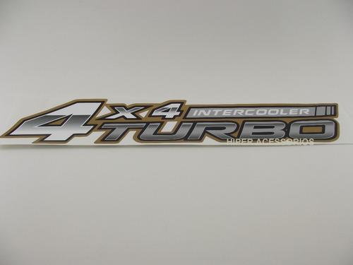 emblema adesivo 4x4 intercooler turbo hilux