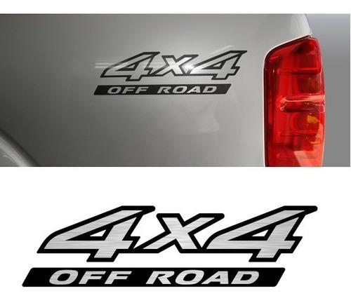emblema adesivo 4x4 off road nissan frontier 2009 unidade