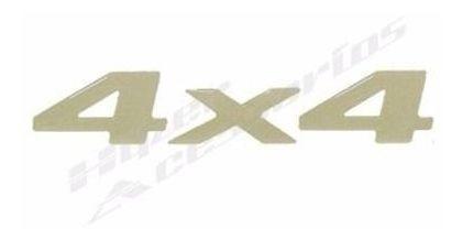 emblema adesivo 4x4 s10 blazer 2003 em diante ouro resinado