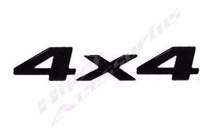 emblema adesivo 4x4 s10 blazer 2003 em diante preto resinado
