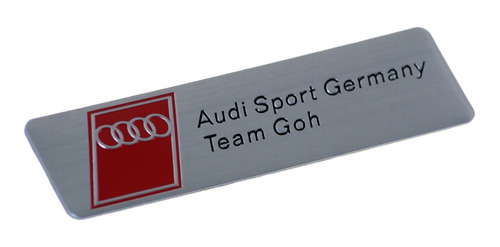 emblema adesivo badge em metal - audi sport germany team goh