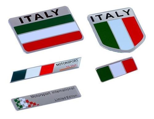 emblema adesivo badge em metal - italia italy bandeira