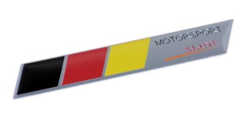 emblema adesivo badge em metal - motorsport s-line alemanha