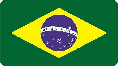 emblema adesivo bandeira do brasil resinada para troller