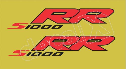 emblema adesivo bmw s1000rr amarela par bws1000rr4
