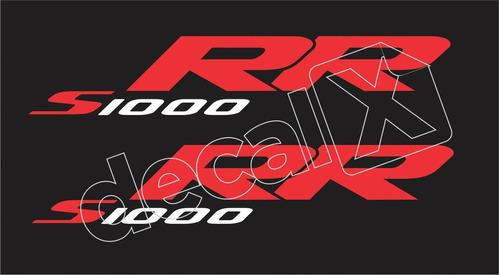 emblema adesivo bmw s1000rr preta par bws1000rr6