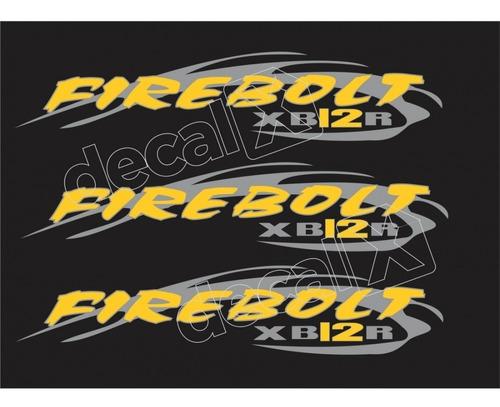 emblema adesivo buell xb 12r preta blxb12r05