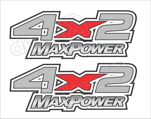 emblema adesivo caçamba f250 4x2 max power 4x2mxp