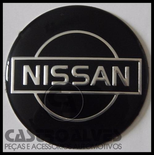 emblema adesivo calota tampa roda nissan preto 58mm -1 pç