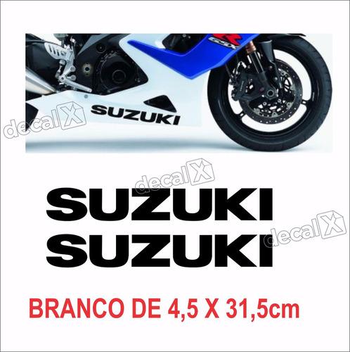 emblema adesivo carenagem gsxr suzuki par cr01