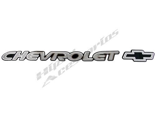 emblema adesivo chevrolet s10 blazer prata resinado