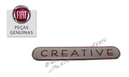 emblema adesivo creative coluna novo uno punto original fiat