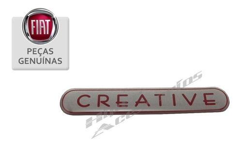 emblema adesivo creative novo uno punto original fiat