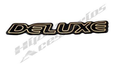 emblema adesivo deluxe s10 blazer preto com dourado resinado