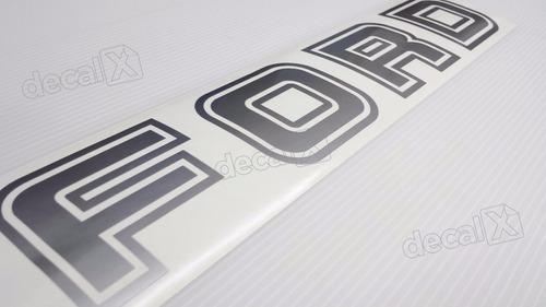 emblema adesivo ford f1000 traseiro prata fordpr