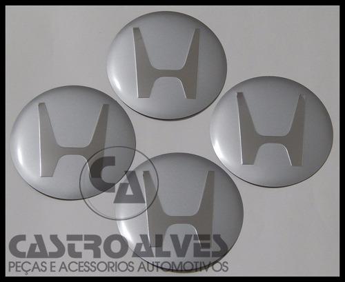 emblema adesivo honda calota miolo roda 90mm/9cm prata -1 pç