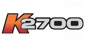 emblema adesivo k2700 lateral kia bongo k 2700