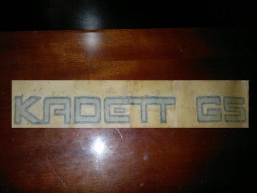 emblema adesivo kadett gs original novo estoque antigo