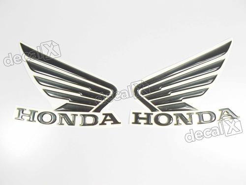 emblema adesivo resinado asa preto/cinza honda hornet 2013