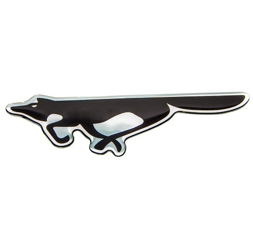 emblema adesivo resinado fox preto - diadema sp