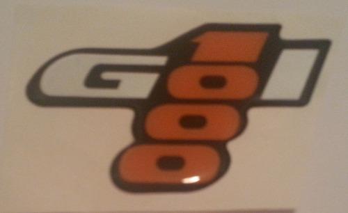 emblema adesivo resinado gol 1000