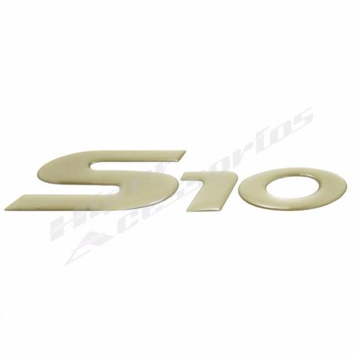 emblema adesivo s10 2006 em diante resinado dourado claro