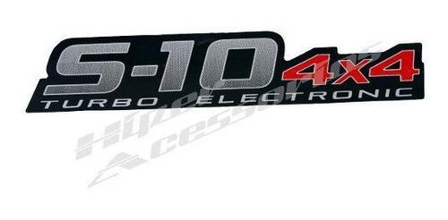 emblema adesivo s10 4x4 turbo electronic 2011 em diante