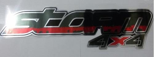 emblema adesivo storm 4x4 cromado vermelho ranger 2010