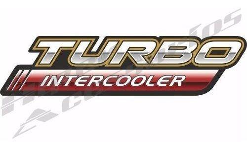 emblema adesivo turbo intercooler toyota hilux vermelho