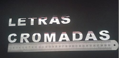 emblema adesivos carros letras numeros cromados 3cm