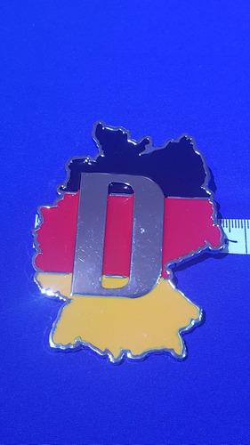 emblema alemania metálico atornillable