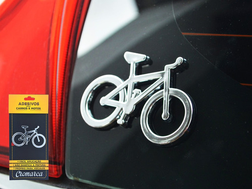 emblema alto relevo 3d 3m autoadesivo bicicleta bike cromada