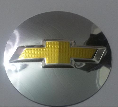 emblema alumínio volante chevrolet gm gol corsa 50mm+ brinde