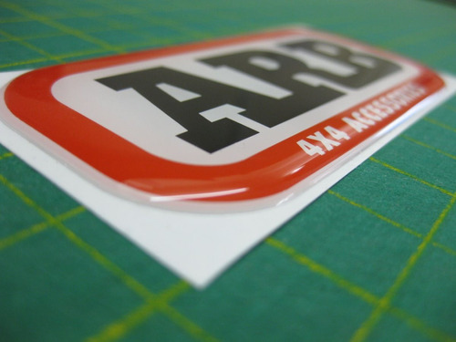 emblema arb calcomania resinada. medida 9 x 4 cm oferta.