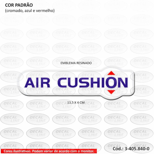 emblema auto adesivo air cushion para caminhão vw - resinado