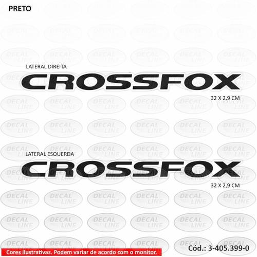 emblema auto adesivo crossfox 2015 - kit com 2 unidades