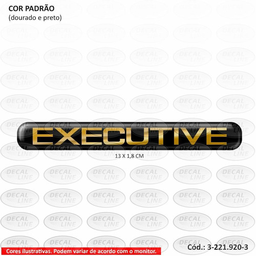emblema auto adesivo executive 1999 - resinado