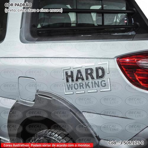 emblema auto adesivo hard working strada 2015