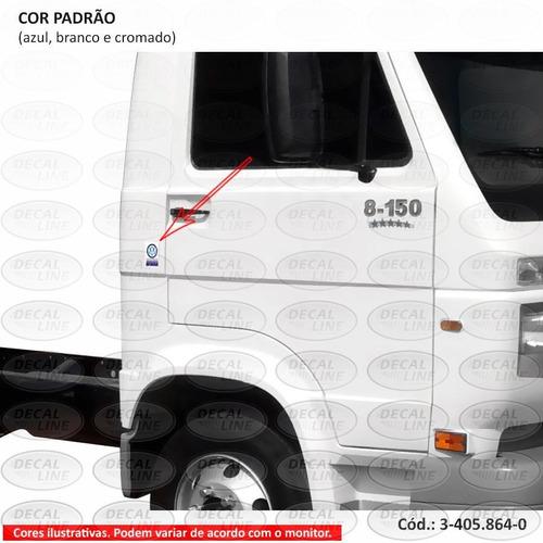 emblema auto adesivo motor mwm para caminhão vw - resinado