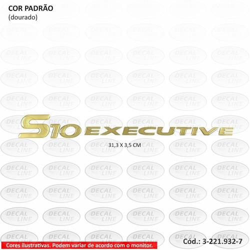 emblema auto adesivo s10 executive 2003 - resinado