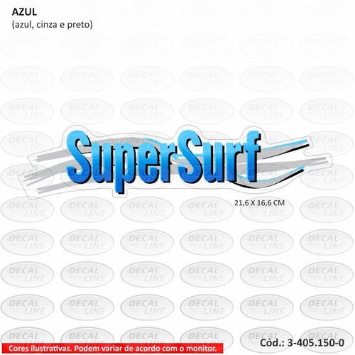 emblema auto adesivo saveiro super surf 2002