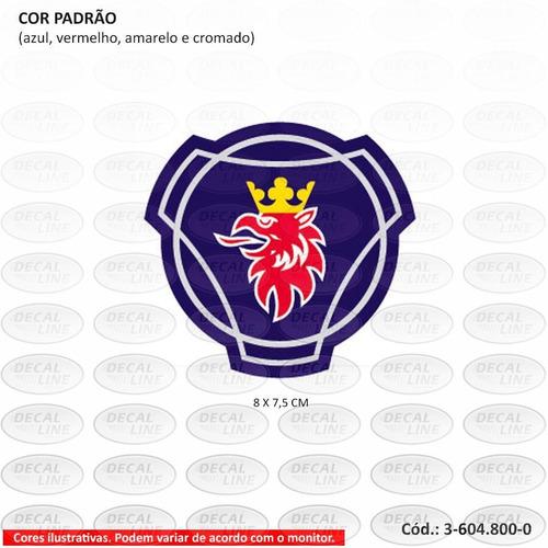 emblema auto adesivo scania série 4 (galo) - capô - resinado